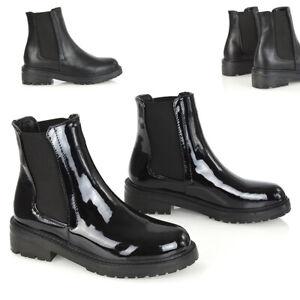 Womens Ankle Booties Decorative Zip Mid Block Heel Ladies Faux Suede Boots 3-8