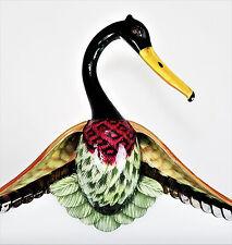 Mallard Duck Bird Wide Shoulder Coat Clothes Hanger Painted Lacquer