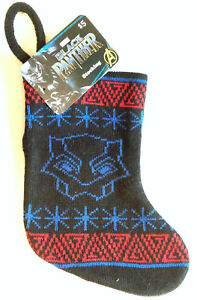 "Marvel Avengers Black Panther Knit Christmas Stocking 8/"" And 18/"" Lot of 2"