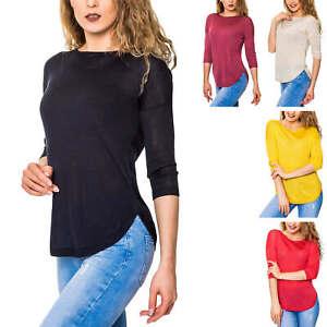 Only-Damen-Lace-Up-Pullover-Feinstrick-Unifarben-Strickpullover-Sweater-Shirt