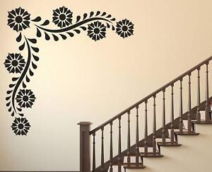 Strange Details About Black Flowers Removable Wall Stickers Home Bedroom Decal Vinyl Decor Baby Room Download Free Architecture Designs Rallybritishbridgeorg
