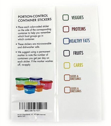 7 tinas de plástico con tapas de almacenamiento de alimentos almuerzo escolar ollas PORCIONES Alimentación Saludable