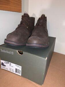 asistencia estómago flojo  NIB Timberland Larchmont Chukka Mens Boots - Dark Brown - TB0A11ET - size  10 888659143800 | eBay