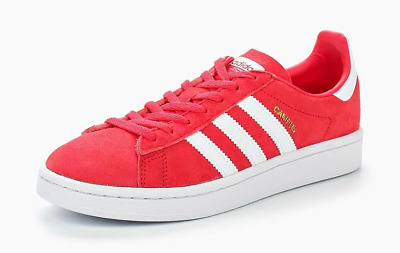 Women's adidas Originals Campus Shoes RED Leather Everyday Trainers | eBay