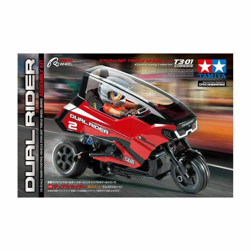 Tamiya T3-01 1 8 Dual  Rider Trike (T3-01) TAM57407  vendita scontata