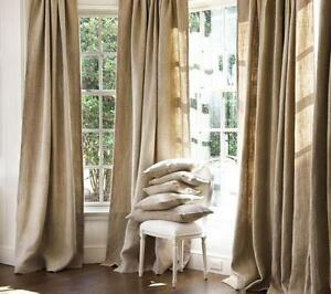 pure natural textured european linen curtains drapes 2