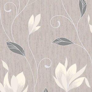 NUEVO-Marron-PLATA-glitter-m0782-synergy-FLORAL-CON-TEXTURA-Vymura-papel-pintado