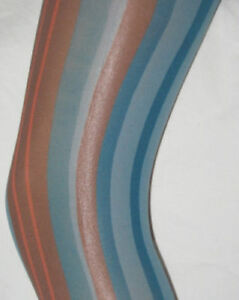 Blue-Burgundy-amp-Pink-Vertical-Stripe-Footless-Tights-10-14-opaque-stripy