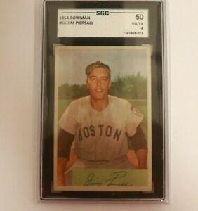1954 Bowman #66 Jimmy Piersall Boston Red Sox SGC 4
