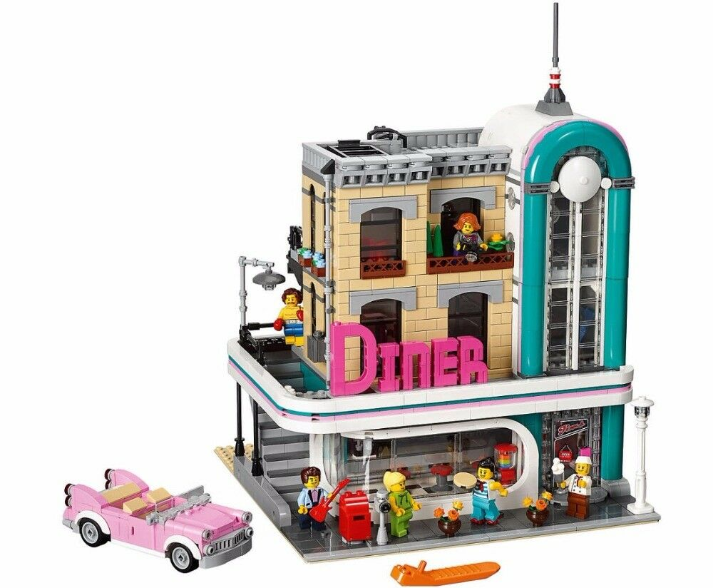 2019 FAST SHIPPING Creator Downtown Diner Compitible Lego 10260 + Manual Book