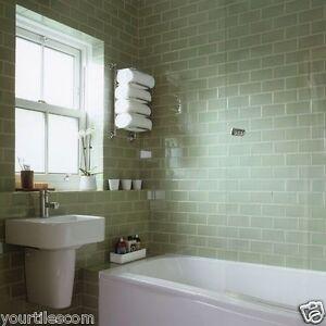 Devon Subway Metro Flat Jade Green Gloss Kitchen Bathroom Wall Tiles 10 X 20cm Ebay