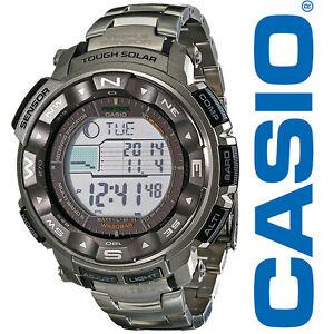 0aceae437 Details about Casio Men's PRW2500T-7 Pathfinder Triple Sensor Tough Solar  Digital Watch