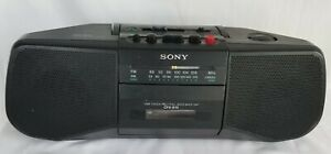 Vintage-Sony-CFS-B15-AM-FM-Cassette-Recorder-Boom-Box-Tape-Player