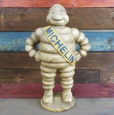 "Cast Iron 15"" Michelin Man Advertising Figurine, Antique Finish, Detroit 1918"