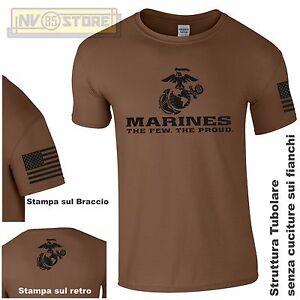 Maglia-T-SHIRT-GILDAN-Militare-Marines-Marine-Corps-USMC-Maglietta-Uomo-STAMPA-B