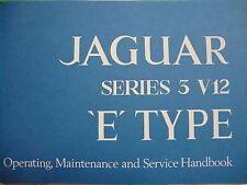 1717(0984) New Jaguar V12 S.3 XKE UK  Specification Owners Manual
