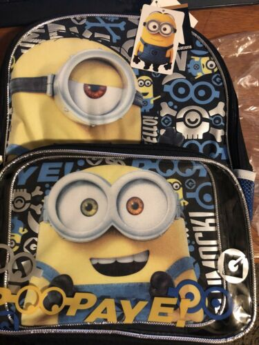 Despicable Me Minions Bob and Kevin Backpack and Lunch Tote Set Eye-Cons