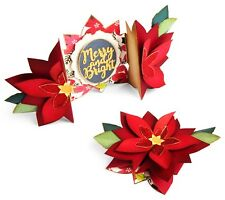Sizzix Thinlits Die Poinsettia Fold-a-long Card Jen Long 663174