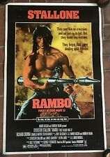 1985 Rambo First Blood Part II Movie Poster  23 x 35  Sylvester Stallone