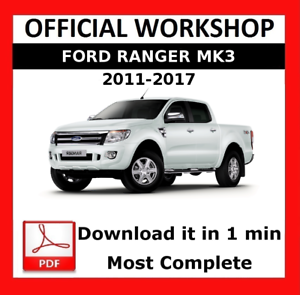 OFFICIAL WORKSHOP Manual Service Repair Ford Ranger 2011-2015 Auto ...