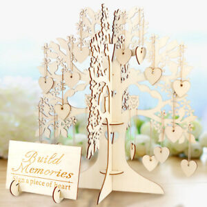 Details About Diy Wooden Wedding Bridal Guest Book Tree Baby Shower Guest Book Alternative