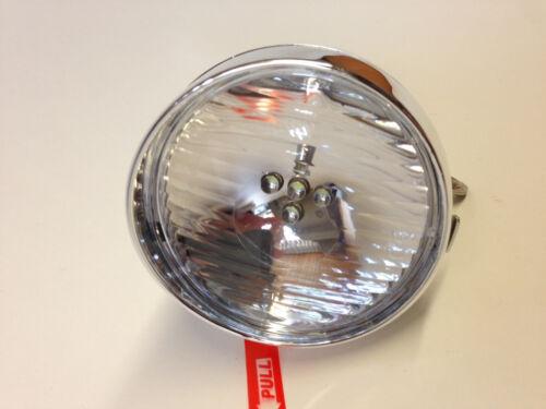Lampe Retro chrom Scheinwerfer 5 LED  Lampe front Holland