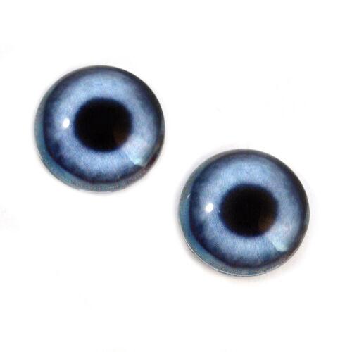 Art Dolls Jewelry Making Taxidermy Art 14mm Blue Dog Animal Glass Doll Eyes