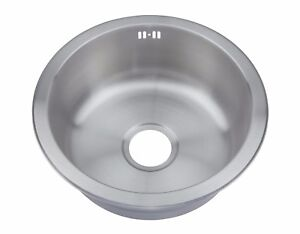 Image Is Loading Inset Kitchen Sink Small Round One 1 0