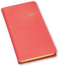 2017 Weekly Pocket Planner Agenda Organizer Journal by Gallery Leather Salmon