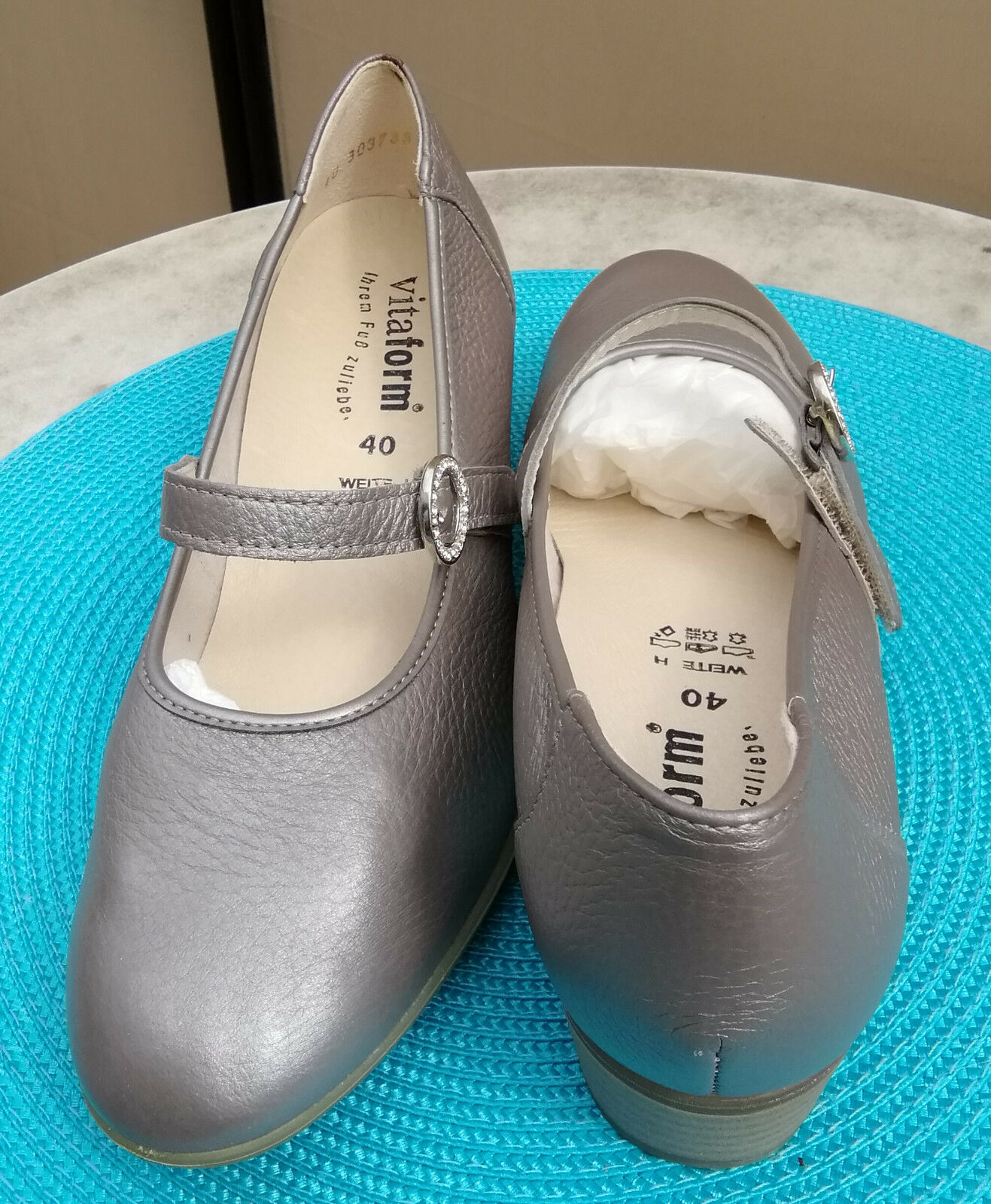 Mary Janes Vitaform QVC Hirschleder Gr. 40 bequem  in  taupe,  Neupreis 140 Euro