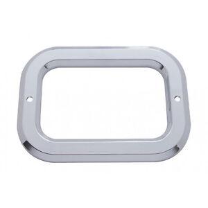 Rectangular Light Plastic Bezels w/o Visor for Grommet Mounted Lights - Set of 2