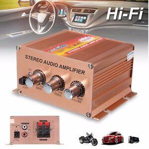 500W 2.1CH 12V Mini HiFi Stereo FM Audio Amplifier Car Motorcycle Boat Home DIY