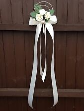 Pew Ends Bows Church Wedding Flowers Decorations Fabric For