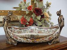 Luxus Prunkschale Jungfrauen Porzellan Bronze Edel Antik Jugendstil Prunk Schale