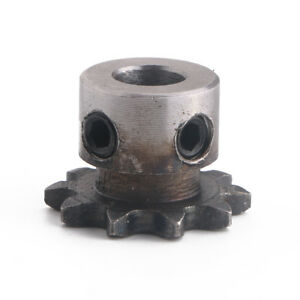 8mm-Bore-10T-10-Teeth-Metal-Pilot-Motor-Gear-Roller-Chain-Drive-Sprocket-New