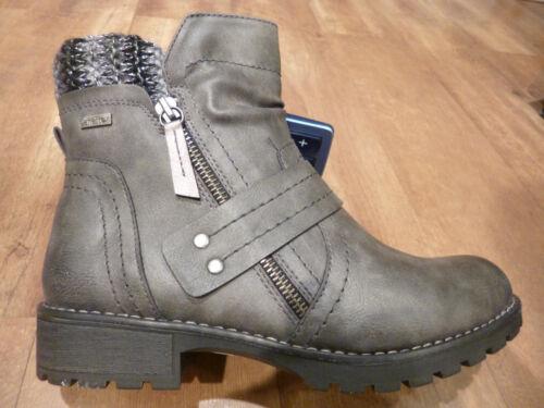 Jana-Tex Damen Stiefelette Stiefel Boots Winterstiefel grau NEU