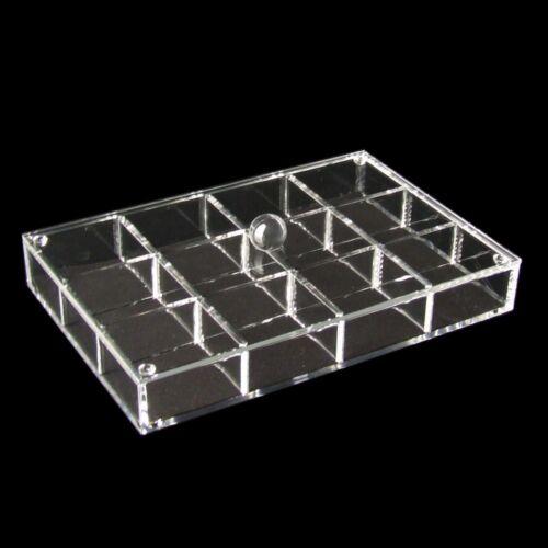 4 x Kosmetik Organizer Acryl Box 12 Fächern mit Deckel 152202
