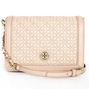 7e0bf1c8a15e BRAND NEW TORY BURCH 46182 LIGHT OAK 205 BRYANT QUILTED CROSS-BODY ...
