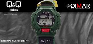 Vintage Uhren Q&Q Der Light. 9930, Wr. 5m. Lap Speicher 10. (M111-005)