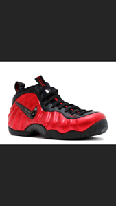 Nike Air Foamposite Pro METALLIC UNIVERSITY RED BLACK sz 10 - VNDS