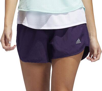 Adidas 4 Pollici Marathon 20 Da Donna In Esecuzione Pantaloncini-viola-mostra Il Titolo Originale Materiali Superiori