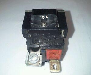 1 Pushmatic Bulldog Single Pole 15 Amp//Circuit Breaker
