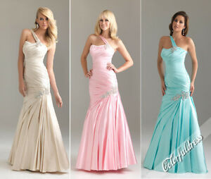 One-shoulder-Ruched-Mermaid-Evening-Bridesmaid-Formal-Prom-dress-SZ-6-8-10-12-14