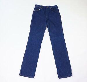 Vintage-80s-Wrangler-Uomo-30x36-Western-Cowboy-Jeans-Gamba-Dritta-Jeans-Blu-USA