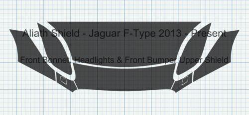 Jaguar F-Tipo 2013-2017 frente nariz claro Protector de chips de piedra conjunto de película de protección