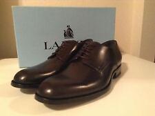 """Lanvin Solid Black Dress Shoes """"Derby"""" UK 10 US 11 NWOB"""