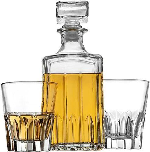 Decanter for Liquor Scotch Bourbon Vodka Whiskey Decanter and 2 Glasses Bar Set