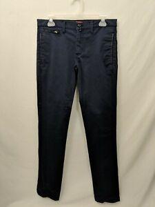 0a7ff4d47c Details about Zara Man Mens 30 Navy Blue Skinny Leg Chino Pants