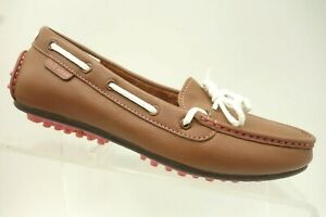 Cole-Haan-Brown-Leather-Casual-Slip-On-Driving-Loafer-Boat-Shoes-Women-039-s-5-B