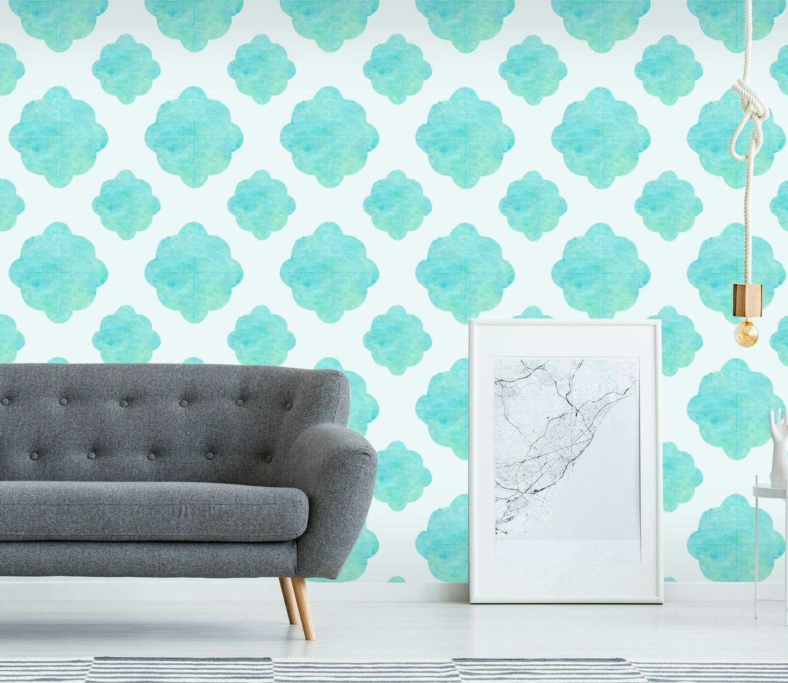 3D Floral bluee Art 22 Wallpaper Mural Print Wall Indoor Wallpaper Murals UK